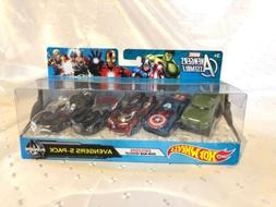 New! Hot Wheels Marvel Avengers Die-Cast Vehicle, 5-Pack