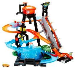NEW Hot Wheels Ultimate Gator Car Wash Kids Play Set FREESHI
