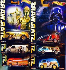 Hot Wheels Pop Culture 2015 Star Wars Complete Set of 6 Cars