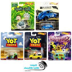 Hot Wheels Premium 2020 Retro Entertainment S Case Set of 5