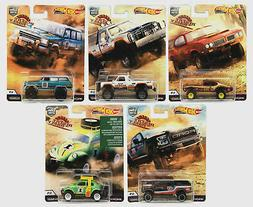 Hot Wheels Premium Car Culture 2019 Desert Rally Set of 5 -