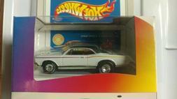 Rare Lexmark Hot Wheels White 1967 Pontiac GTO w/ Real Rider