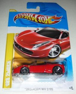Red 2012 Ferrari 458 Spider HW Premiere Hot Wheels 25/50 1:6