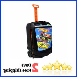 Hot Wheels Rolling Storage Case Retractable Handle carry 100