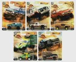 Set of 5 HOT WHEELS 2019 Car Culture Case K *Desert Rally* D