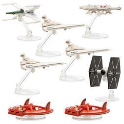 Set Of 8 Hot Wheels Disney Star Wars Spaceships Diecast Orig