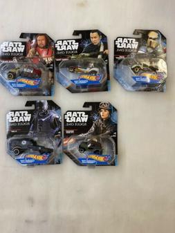 Star Wars Hot Wheels Character Cars  LOT 5 Collectors Models
