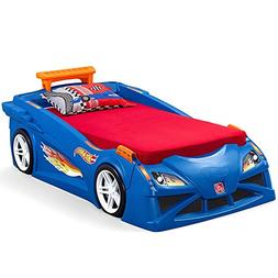 Step2 Hot Wheels Convertible Toddler To Twin Bed, Blue ...