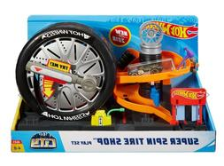 Hot Wheels City Super Spin Tire Shop Playset