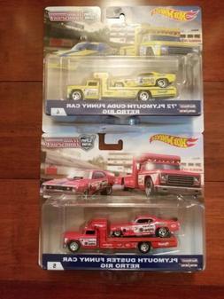 Hot Wheels Team Transport Plymouth Cuda Snake & Mongoose Set
