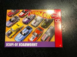 HOT WHEELS THROWBACK 10-PACK BOX SET 50TH ANNIVERSARY LIMITE