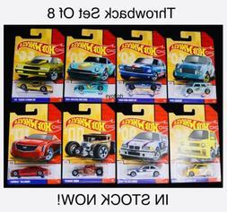 Hot Wheels Throwback Series Set of 8,Honda,Mustang,Datsun 24