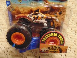 Tiger Shark  New 2018 Hot Wheels Monster Truck with Giant Wh