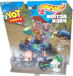 DISNEY TOY STORY 2 Hot Wheels Action Pack - BUZZ, WOODY, JES