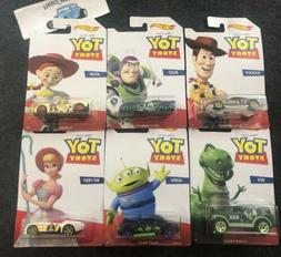 Hot Wheels Toy Story Series Complete Set of 6 Woody Buzz Jes