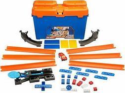 Track Builder Set Hot Wheels Race Multi Stunt Box System Kit