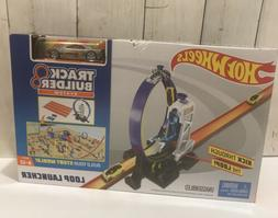Hot Wheels Track Builder System Loop Launcher Set Build Boos