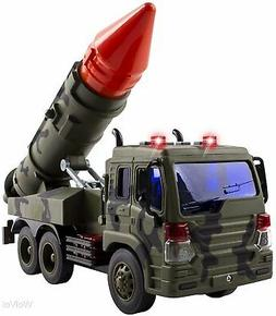WolVol Kids Friction Powered Launcher Fighter Military Truck