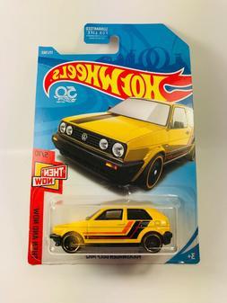 Hot Wheels VW Golf Yellow 1:64 Diecast