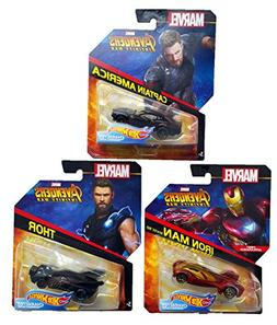Hot Wheels Marvel Avengers Infinity War Die-Cast Bundle of 3