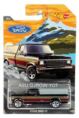 DieCast HOT Wheels Ford Series, Black '79 Ford Truck 2/8