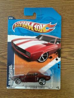 Hot Wheels Ooz Coupe Blue with flamz, Chrome Carriage & pipe