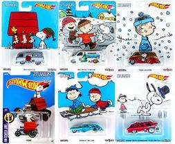 Peanuts Hot Wheels Snoopy Charlie Brown Christmas Set Collec