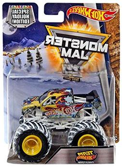 Monster Jam Hot Wheels Snow Tires 1:64 2017 Special Holiday