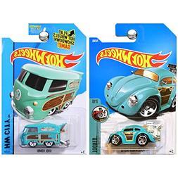 Hot Wheels Volkswagen VW Kool Kombi Van and Volkswagen Beetl