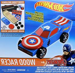 Hot Wheels Wood Racers Captain America by Tara Toy Corporati