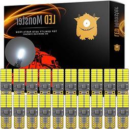 LED Monster 20-Pack White LED Light Bulbs RV Trailer 24-SMD